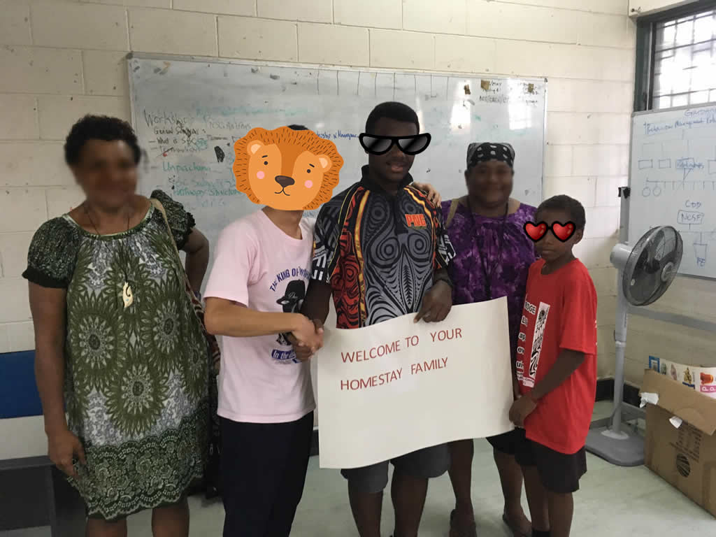 パプアニューギニア1日目:ボクのホストファミリー
