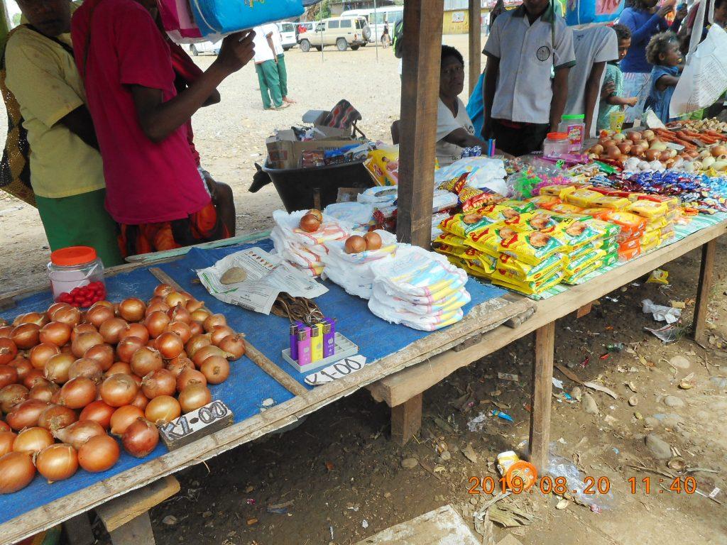 パプアニューギニア3日目:リゴ村へ行く途中で寄った市場