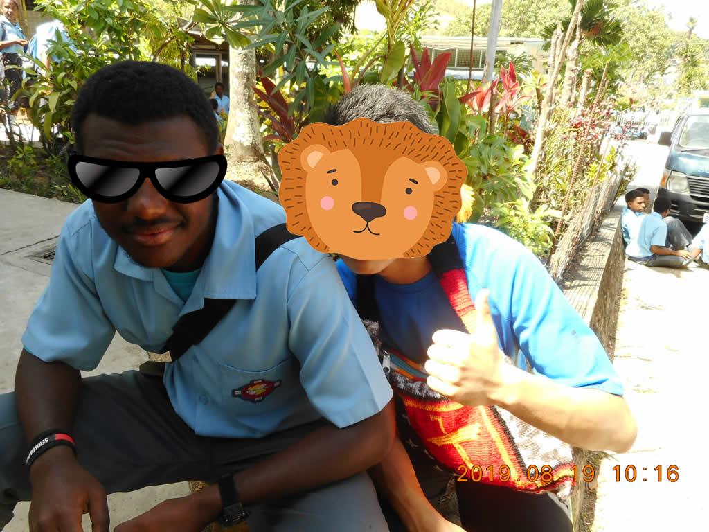 パプアニューギニア2日目:高校で授業を受けた