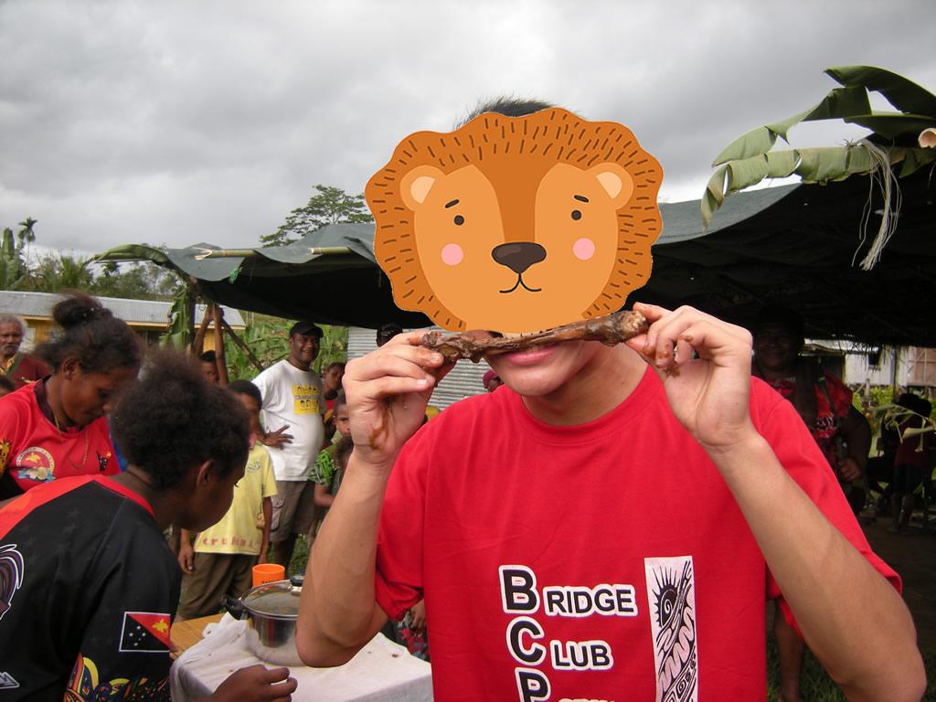 パプアニューギニア4日目:ワラビーの肉