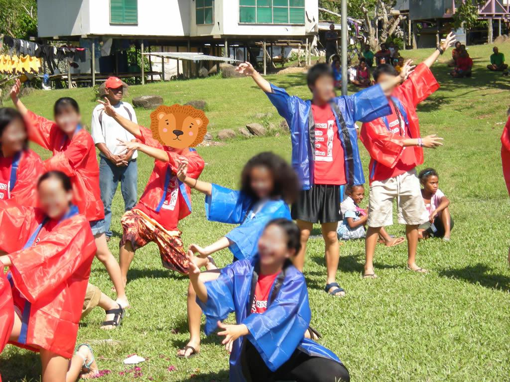 パプアニューギニア5日目:ソーラン節を披露